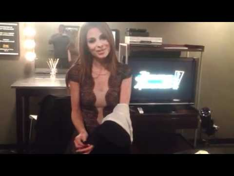 Maria Menounos Prepares for her interview with Jimmy Kimmel