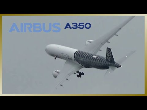 Impressive Airbus A350 takeoff at Hamburg Finkenwerder