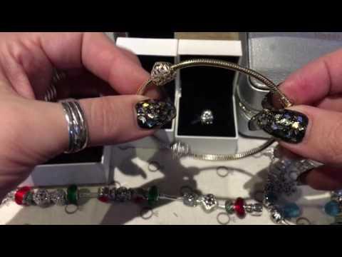 🎅🏻14ct Пандора золотой браслет и шармики подарок 🎁 на Рождество 🎄⛄️🎅🏻