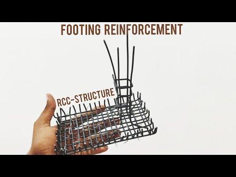 Footing reinforcement miniature rcc structures part 1