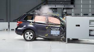 2015 Subaru Forester passenger-side small overlap IIHS crash test