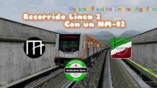 train sim openbve recorrido linea 2 taxquea revolucion con un nm 02