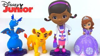 DISNEY JUNIOR FIGURE WITH LION GUARD DOC MCSTUFFINS AND SOFIA THE FIRST -  DELUXE COLLECTIBLE FIGURE