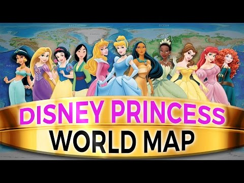 Disney Princess World Map: Where In The World Do All The Princesses on
