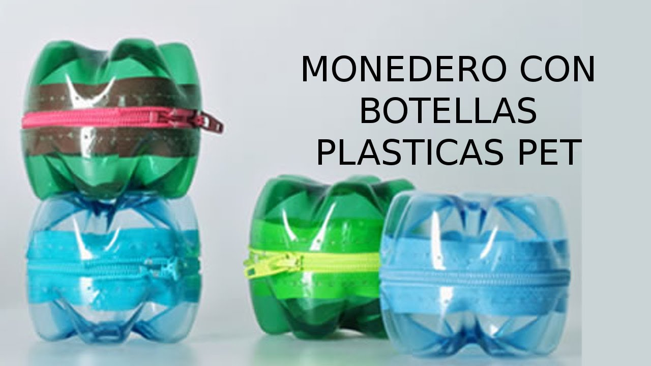 Reciclaje De Botellas Plasticas Pet Manualidades Monedero Youtube