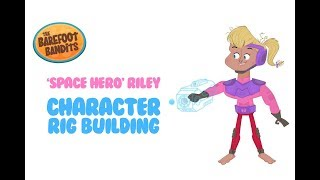 Character Rig Building in Flash - 'Riley Space Hero' Time-lapse