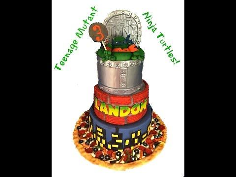 Making A Teenage Mutant Ninja Turtle Cake!