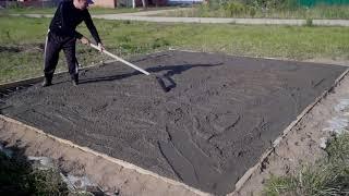 Гараж в одиночку за 150000 рублей. Монолитная плита // How to build a garage alone