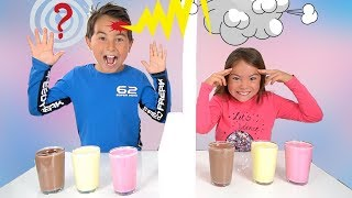 Twin Telepathy Milkshake Challenge! Bruder vs. Schwester |  LEVEL UP  | Johann Loop