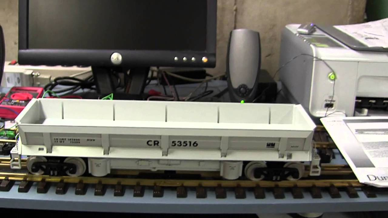MTH Railking One-Gauge Operating Train Freight Dump Car