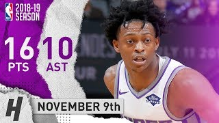 De'Aaron Fox Full Highlights Kings vs Timberwolves 2018.11.09 - 16 Pts, 10 Assists!