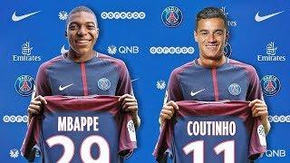 MBAPPE E COUTINHO no PSG? Transferências de verão confirmadas 2017 pés. Bale, Mbappe, Neymar