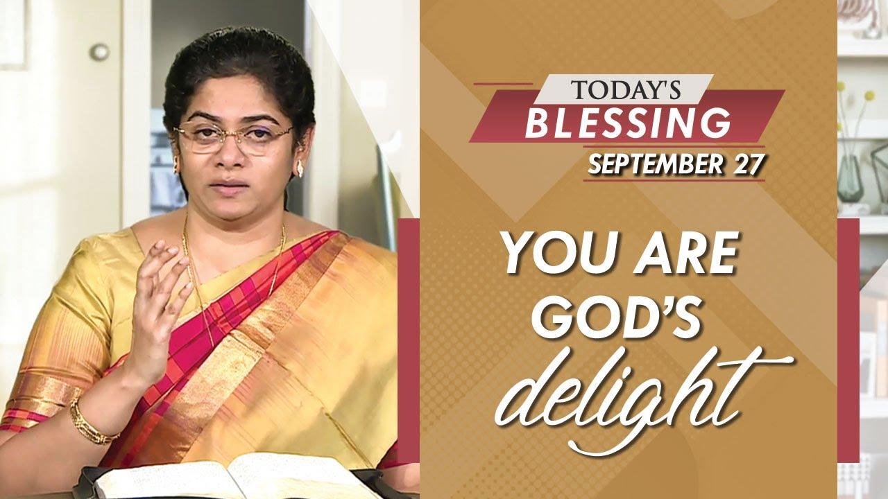 You are God's delight | Sis. Evangeline Paul Dhinakaran | Jesus Calls