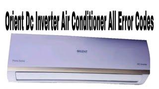 Orient Inverter Ac Error Code List