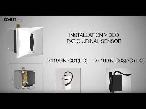 How To Install Kohler S Patio Urinal Sensor