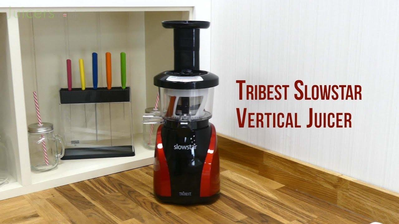 Tribest Slowstar Vertical Juicer in Red