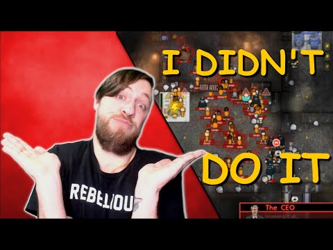 I Get Blamed For Accidentally Killing EVERYONE! In Prison Architect Psych Ward |