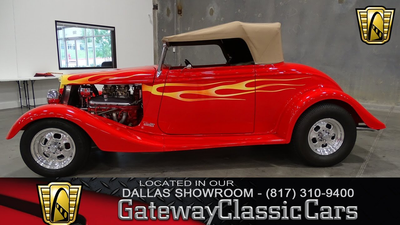 1934 Ford Roadster Stock #173 Gateway Classic Cars of Dallas - YouTube