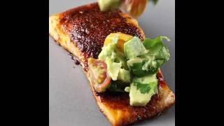 Chili Rubbed Salmon with Avocado Salsa
