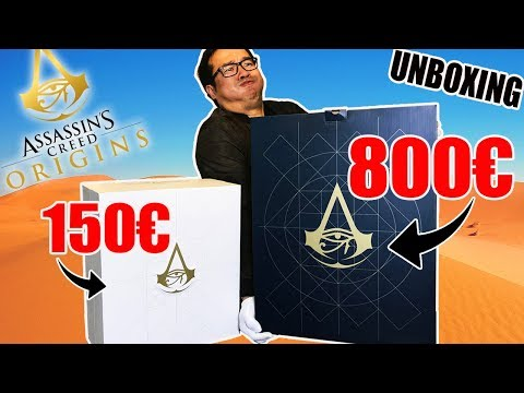 Notre UNBOXING du Collector à 800 EUROS !!! Assassin's Creed Origins
