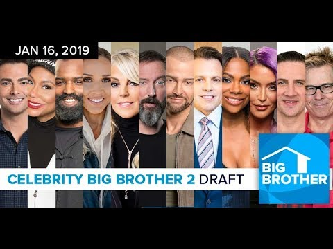 Big Brother Celebrity 2019 Cast Draft Special Youtube
