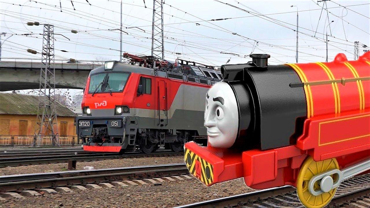 паровозик Томас и его друзья поезд Виктор и Макс смотрят поезда видео про игрушки для детей