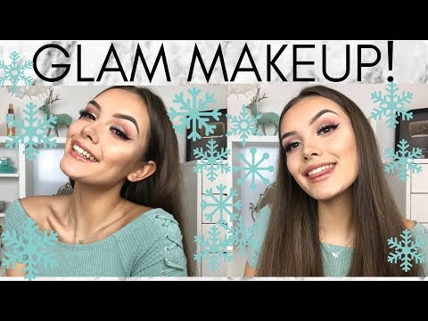 GET READY WITH ME GLAM MAKEUP! | India Grace