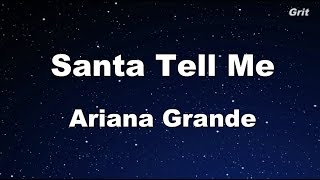 Santa Tell Me - Ariana Grande Karaoke【With Guide Melody】