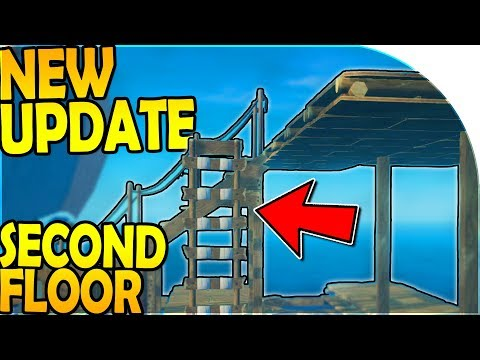 NEW UPDATE - BUILDING the SECOND RAFT FLOOR + HAMMOCK ( Raft Survival Gameplay Part 5 )