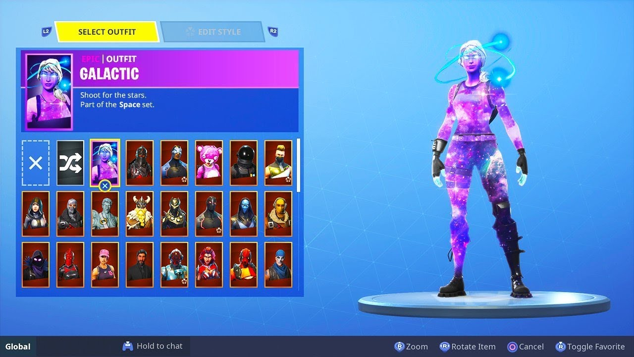 Female galaxy skin released on all fortnite platforms download tutorial youtube - Fortnite galaxy skin free ...