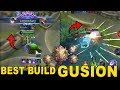 BEST BUILD GUSION   FAST ROAMING  Mythic Ranked    Mobile Legends Indonesia