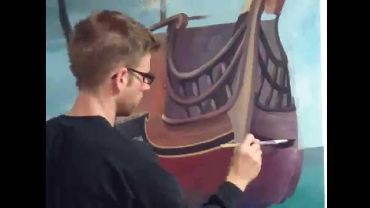 pirate ship doorway mural youtube