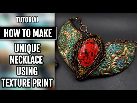 DIY How to Make Unique Necklace. Using the unique and spectacular texture print!