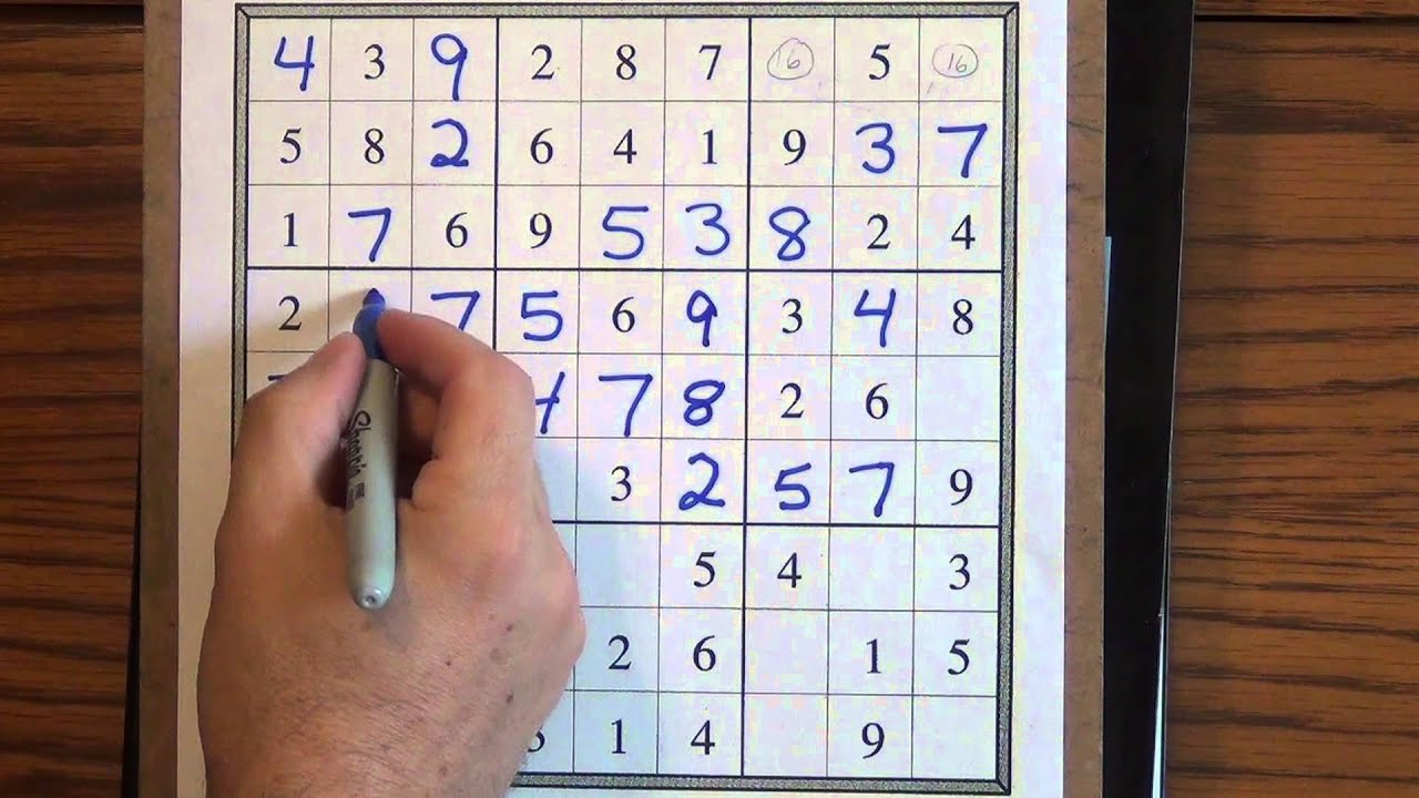 How To Solve Easy Sudoku Puzzles Youtube