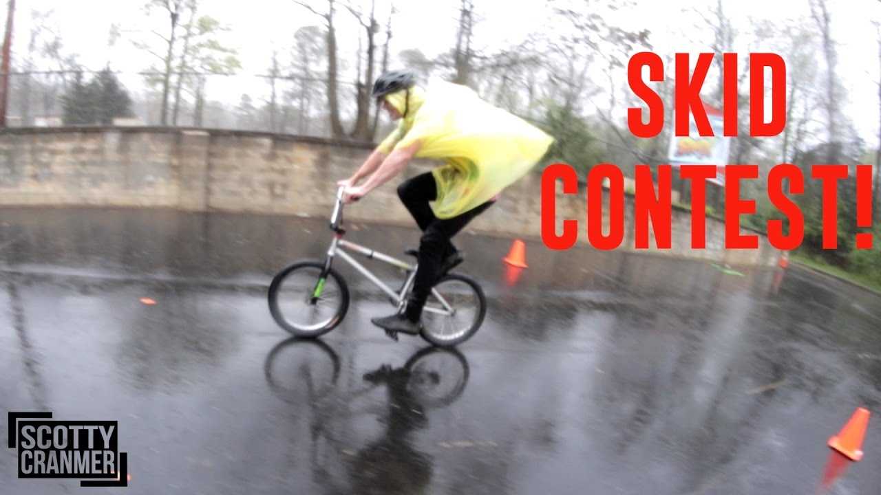 BIKE SKID CONTEST IN THE RAIN!