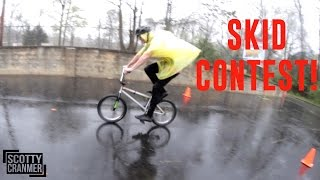 BIKE SKID CONTEST IN THE RAIN!