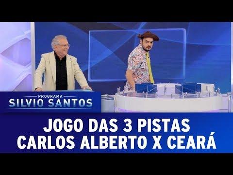 Jogo das 3 Pistas com Carlos Alberto e Ceará | Programa Silvio Santos (06/08/17)