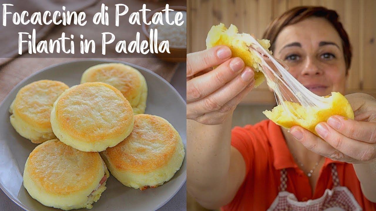 focaccine di patate filanti in padella ricetta facile