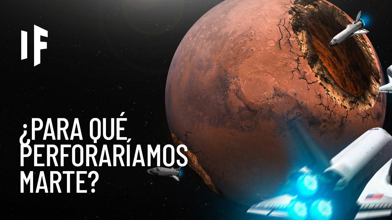 ¿Qué pasaría si caváramos un agujero en Marte?