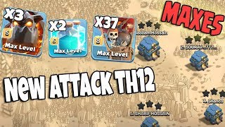 Maxes Lava lvl5 Clone Spell lvl5 Balloon lvl8 New TH12 Attack   Best Air Army 3 Star TH12 On Fire