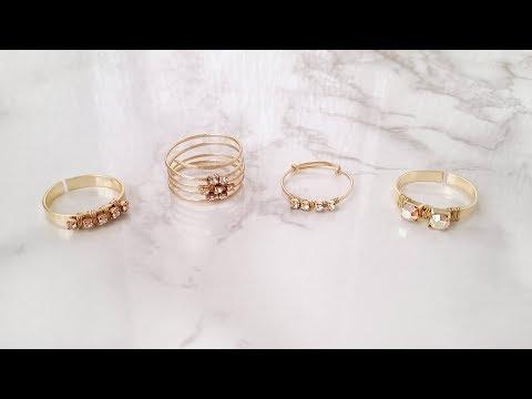 DIY Easy Rhinestone Rings