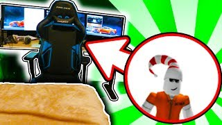 BREAKING INTO THE CREW HOUSE AND HACKING A ROBLOX YOUTUBER!!