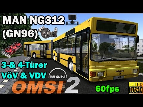 OMSI 2 - Preview MAN NG312 (GN96) 3-& 4-Türer, VöV & VDV |