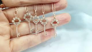 [나도골드] 러프다이아몬드 열쇠 목걸이