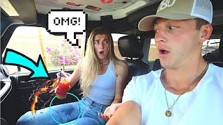SLAMMING THE BRAKES PRANK ON FIANCE!