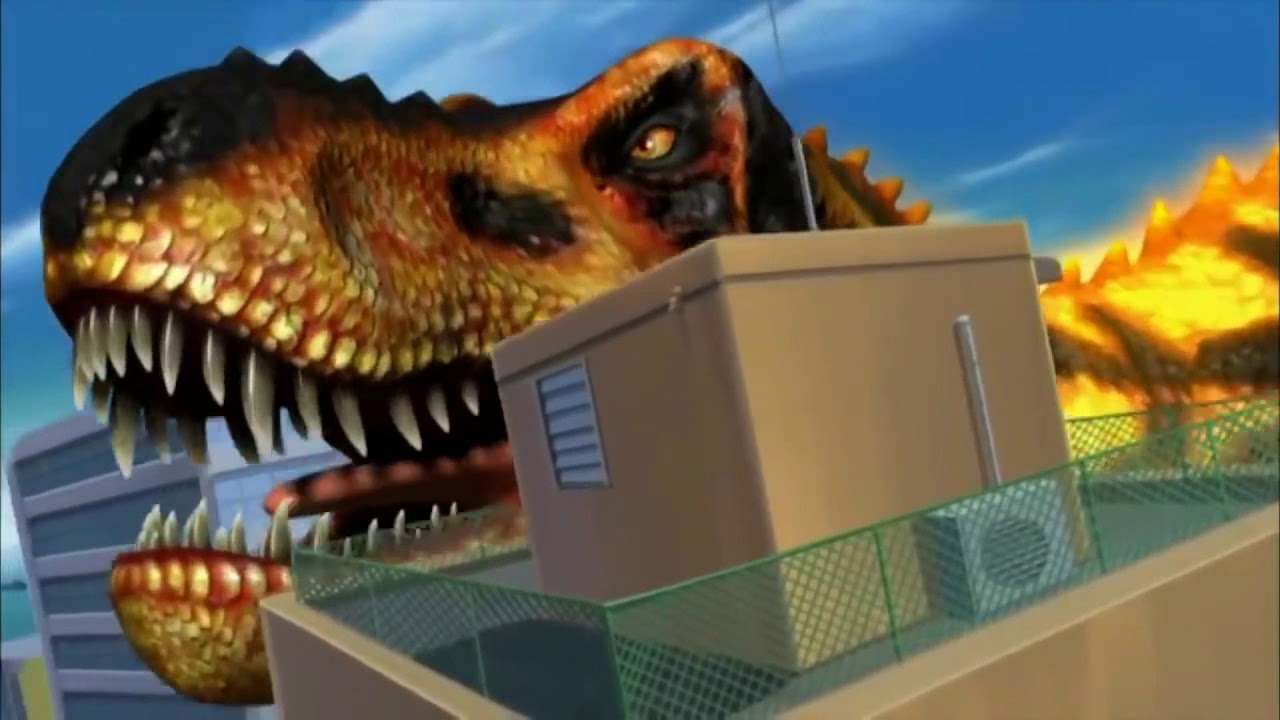 Download Black TRex - Dinosaur King (all scene) Part 1