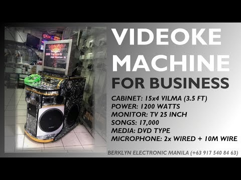 Videoke Karaoke 15x4 Vilma 1200watts Generic Setup TV25 - Berklyn Electronic Manila