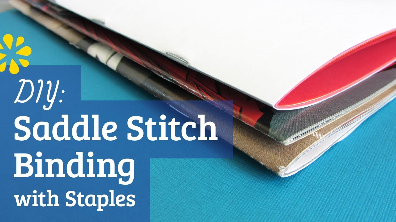 Diy staple saddle stitch bookbinding tutorial sea lemon youtube solutioingenieria