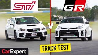 2021 Toyota GR Yaris v Subaru Impreza WRX STi track test and performance review