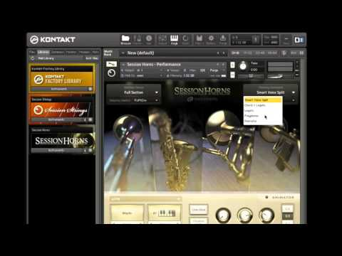 Session Horns - Voicing Assistant Walkthrough and Same Note Legato